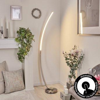 Kimbolton Lampa Stojąca LED Nikiel matowy, 1-punktowy