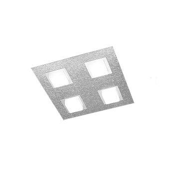 Grossmann BASIC Lampa Sufitowa LED Aluminium, 4-punktowe
