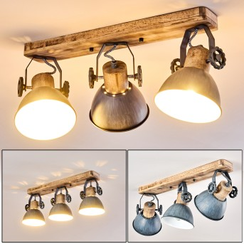 Orny Lampa Sufitowa Jasne drewno, 3-punktowe