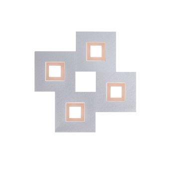 Grossmann KARREE Oświetlenie ścienne i sufitowe LED Aluminium, Miedź, 4-punktowe