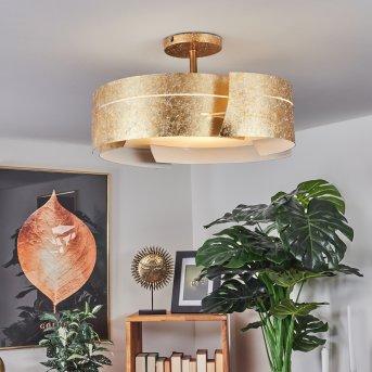 Novara lampa sufitowa Złoty, 3-punktowe