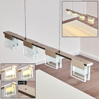 Aadorf Lampa Wisząca LED Nikiel matowy, 4-punktowe
