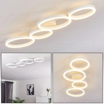 Grasse Lampa Sufitowa LED Biały, 1-punktowy