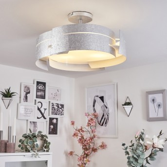 Novara lampa sufitowa Srebrny, 3-punktowe