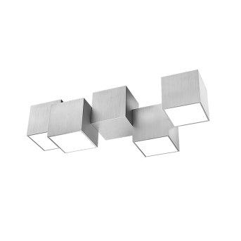 Grossmann ROCKS Lampa Sufitowa LED Aluminium, 4-punktowe