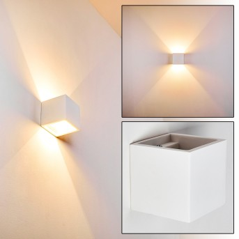 Mazara Lampa ścienna Biały, 1-punktowy