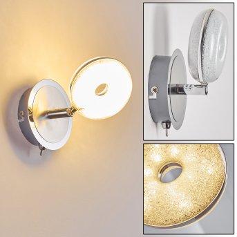Donot Lampa ścienna LED Nikiel matowy, Chrom, 1-punktowy