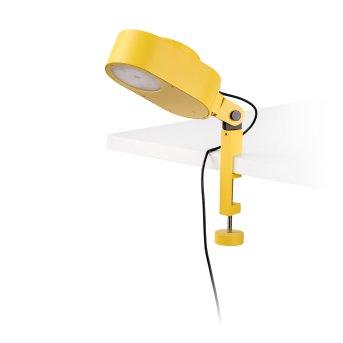Faro Barcelona Inviting lampa z klipsem Żółty, 1-punktowy