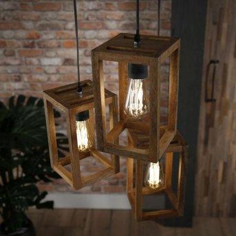 Siddeburen Lampa Wisząca Ciemne drewno, 3-punktowe