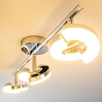 Paris lampy sufitowe listwy LED Chrom, 3-punktowe