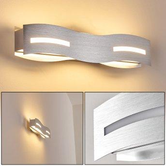 Nagold Lampa ścienna LED Nikiel matowy, Chrom, 1-punktowy