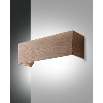 Fabas Luce Badia Lampa ścienna LED Jasne drewno, 1-punktowy