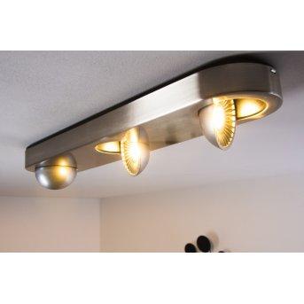 Granada lampa sufitowa LED Nikiel matowy, 3-punktowe