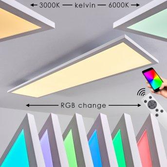 Salmi Lampa Sufitowa LED Biały, 1-punktowy, Zdalne sterowanie, Zmieniacz kolorów