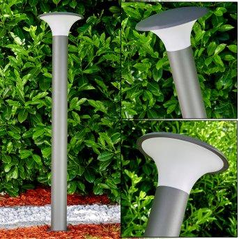 Zewnętrzna Lampa Stojąca Chelmsford LED Siwy, 1-punktowy