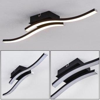 Letala Lampa Sufitowa LED Czarny, 2-punktowe
