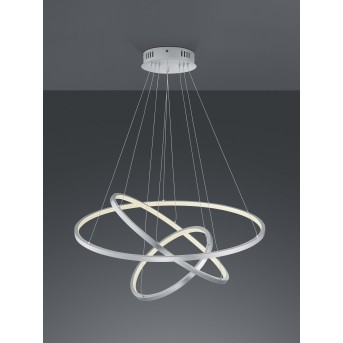 Trio Aaron Lampa Wisząca LED Nikiel matowy, 1-punktowy, Zdalne sterowanie, Zmieniacz kolorów