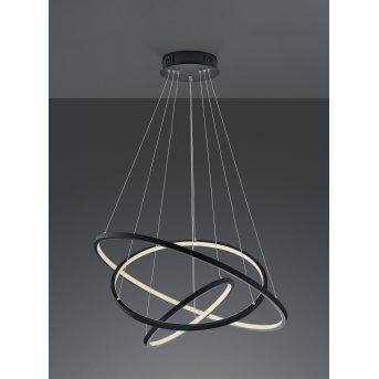 Trio Aaron Lampa Wisząca LED Antracytowy, 1-punktowy, Zdalne sterowanie, Zmieniacz kolorów