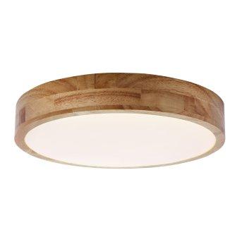 Brilliant Slimline Lampa Sufitowa LED Biały, Ciemne drewno, 1-punktowy, Zdalne sterowanie