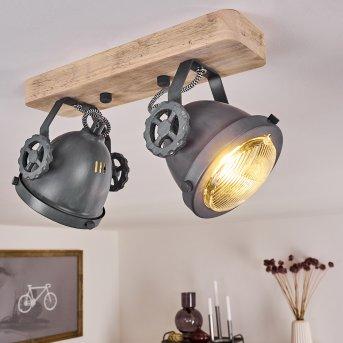 Herford Lampa Sufitowa Siwy, Jasne drewno, 2-punktowe