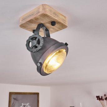 Herford Lampa Sufitowa Siwy, Jasne drewno, 1-punktowy