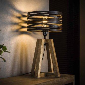 BEILEN lampka nocna Ciemne drewno, 1-punktowy