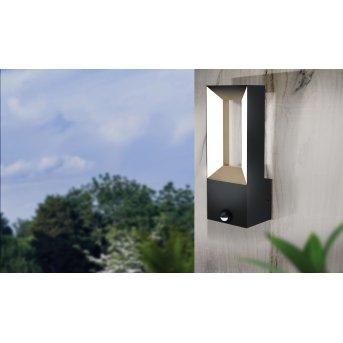 Eglo RIFORANO Zewnętrzny kinkiet LED Czarny, 2-punktowe, Czujnik ruchu