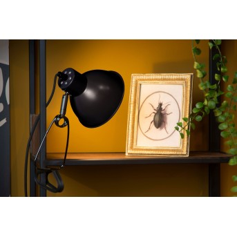 Lucide MOYS lampa z klipsem Czarny, 1-punktowy