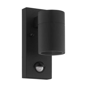 Eglo RIGA Zewnętrzny kinkiet LED Czarny, 1-punktowy, Czujnik ruchu