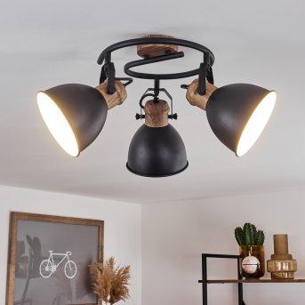 Banjul Lampa Sufitowa Czarny, 3-punktowe