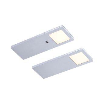 Paul Neuhaus AMON Oświetlenie podszafkowe LED Srebrny, 2-punktowe, Czujnik ruchu