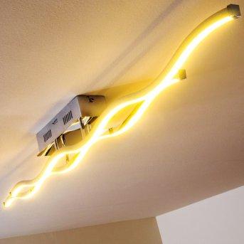 Paul Neuhaus EMMA lampa sufitowa LED Stal nierdzewna, 2-punktowe