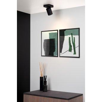 Lucide NIGEL Reflektor sufitowy LED Czarny, 1-punktowy