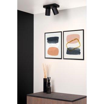 Lucide NIGEL Reflektor sufitowy LED Czarny, 2-punktowe