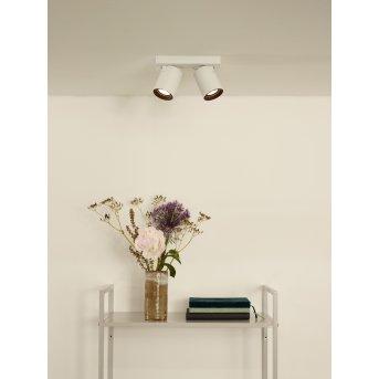 Lucide NIGEL Reflektor sufitowy LED Biały, 2-punktowe