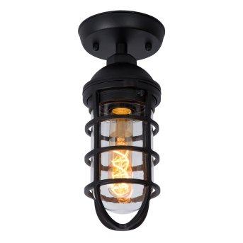 Lucide LIMAL Lampa Sufitowa zewnętrzna Czarny, 1-punktowy
