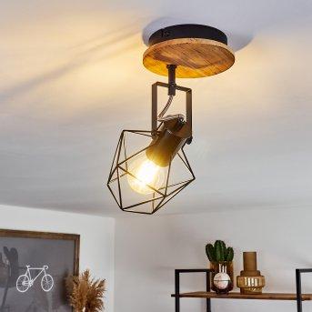 Maracambo Lampa Sufitowa Czarny, Ciemne drewno, 1-punktowy