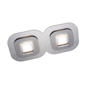 Grossmann AP Lampa Sufitowa LED Siwy, Aluminium, 2-punktowe