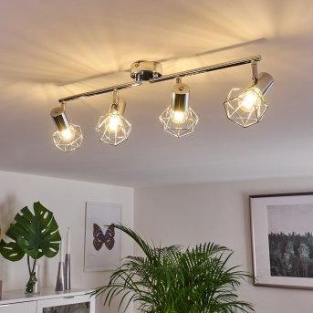Globo lampy sufitowe listwy Chrom, 4-punktowe