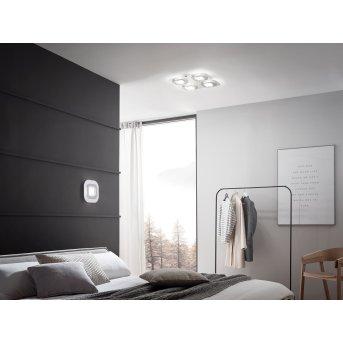 Grossmann AP Lampa Sufitowa LED Siwy, Aluminium, 4-punktowe