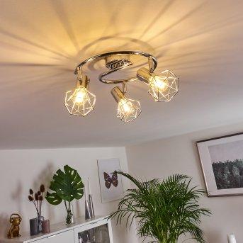 Globo lampy sufitowe listwy Chrom, 3-punktowe