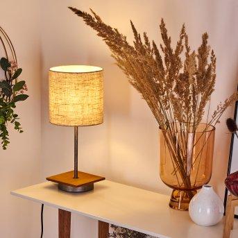 Shiburg lampka nocna Srebrny, Ciemne drewno, 1-punktowy