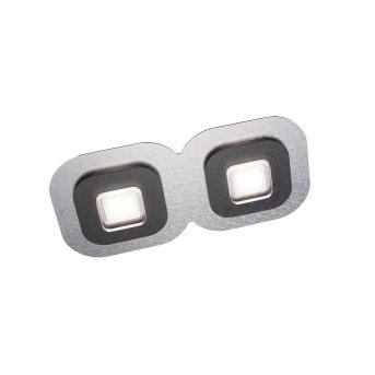 Grossmann AP Lampa Sufitowa LED Czarny, Aluminium, 2-punktowe