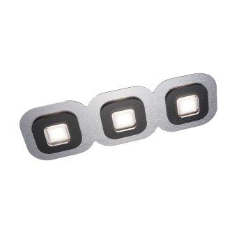 Grossmann AP Lampa Sufitowa LED Czarny, Aluminium, 3-punktowe