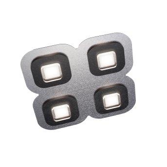 Grossmann AP Lampa Sufitowa LED Czarny, Aluminium, 4-punktowe