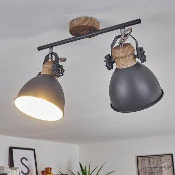 Banjul Lampa Sufitowa Siwy, Jasne drewno, 2-punktowe