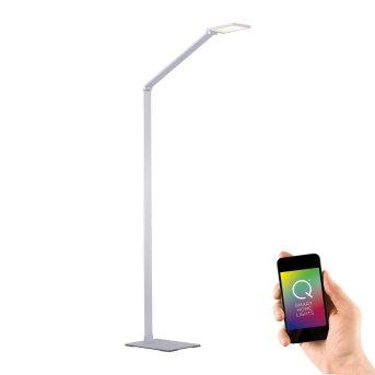 Paul Neuhaus Q-HANNES Lampa Stojąca LED Srebrny, 1-punktowy, Zdalne sterowanie