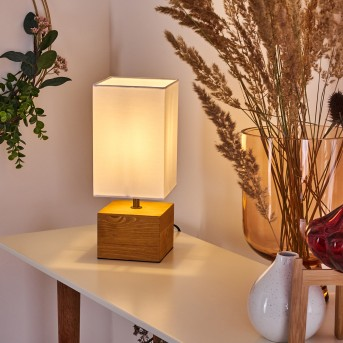 Geneva lampka nocna Jasne drewno, 1-punktowy