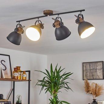 Banjul Lampa Sufitowa Siwy, Biały, 4-punktowe