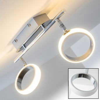 Dobris lampy sufitowe listwy LED Chrom, 2-punktowe